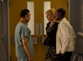 Wang Xueqi, Gwyneth Paltrow and Don Cheadle star as Dr. Wu, Pepper Potts and James Rhodes in Marvel's Iron Man 3