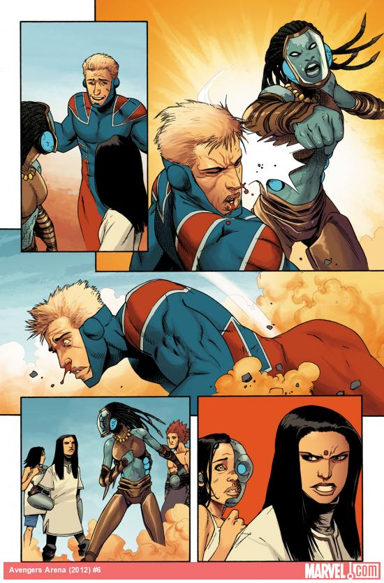 Avengers Arena #6 preview art by Kev Walker