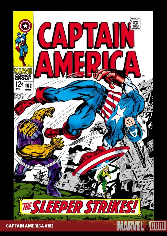 CAPTAIN AMERICA #102 COVER