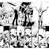 Ultimate Comics Spider-Man #156 black and white art by Mark Bagley