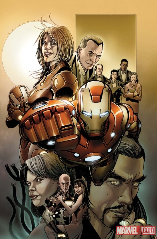 Invincible Iron Man #500.1 cover by Salvador Larroca