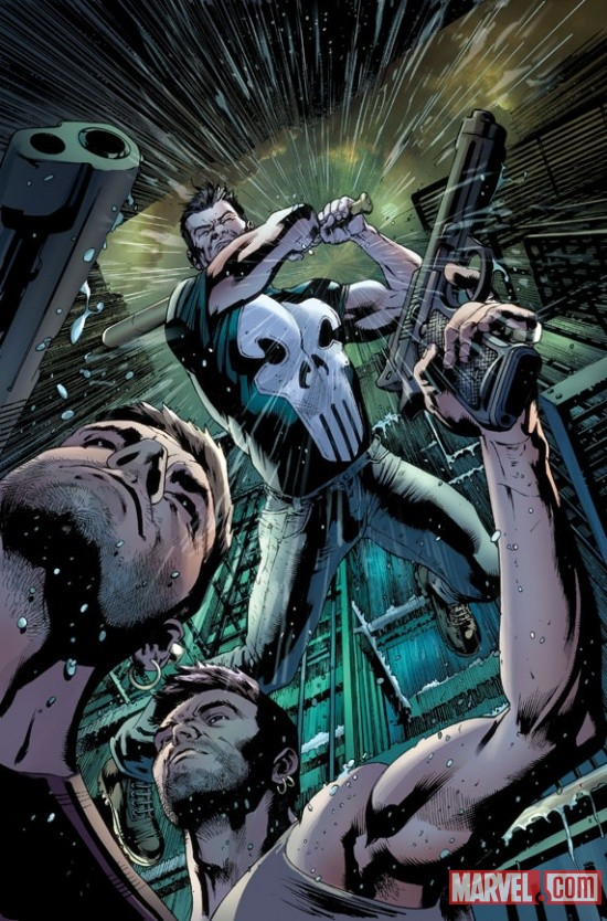 The Punisher #4 cover by Bryan Hitch