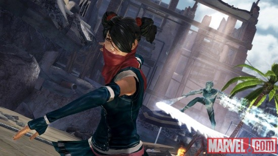 Screenshot of Aimi and Iceman from X-Men: Destiny