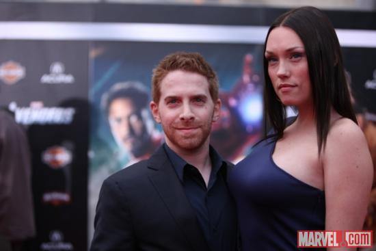 Seth Green on the Avengers red carpet