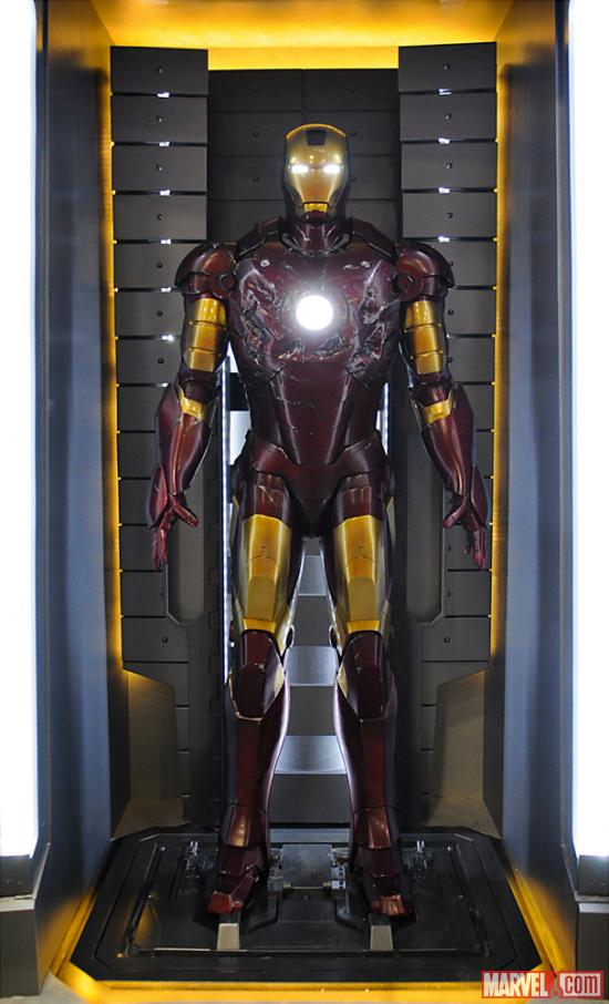 The Mark III armor at the Marvel Booth at San Diego Comic-Con 2012