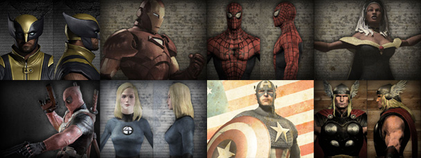Image Featuring Captain America, Deadpool, Invisible Woman, Iron Man, Spider-Man, Storm, Thor