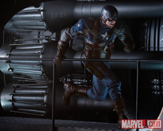 "Chris Evans as Captain America in ""Captain America: The First Avenger"""