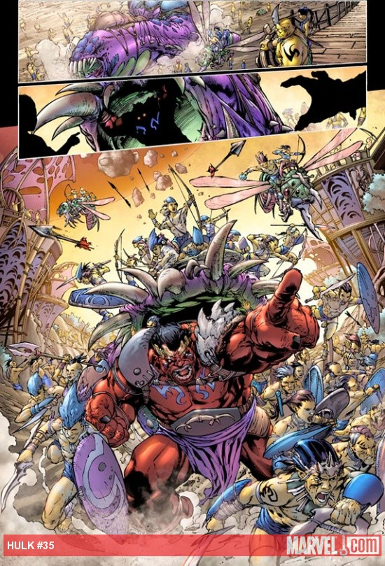 Hulk (2008) #35 preview art by Carlo Pagulayan