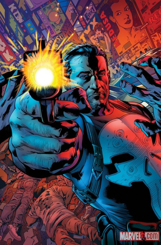 The Punisher #1 cover by Bryan Hitch