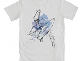 Captain America Drips Tee by Mighty Fine