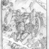 Harley-Davidson Captain America: The First Avenger print pencils by Adam Kubert