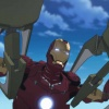 Iron Man in battle in the Iron Man anime