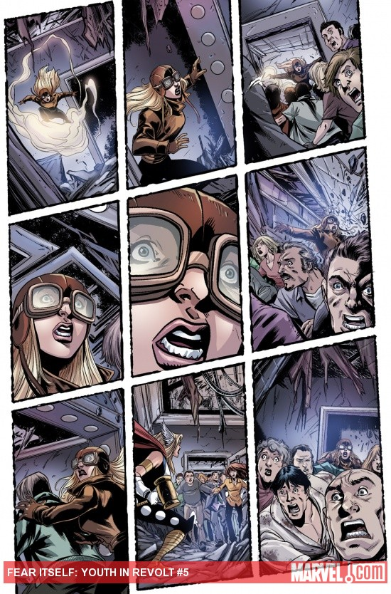Fear Itself: Youth in Revolt #5 preview art by Mike Norton