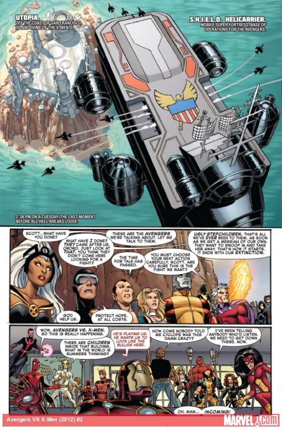 Avengers VS X-Men #2 preview art