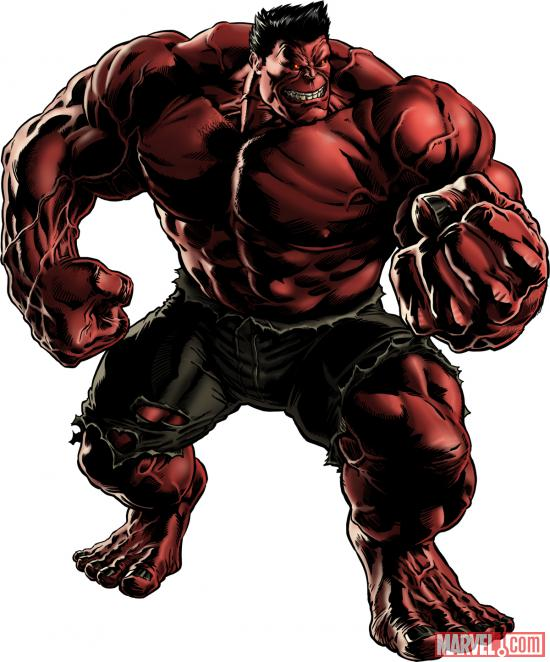Red Hulk character model from Marvel: Avengers Alliance