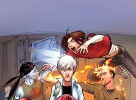 Image Featuring Spider-Man (Ultimate), Human Torch (Ultimate), Mary Jane Watson (Ultimate), Iceman (Ultimate)