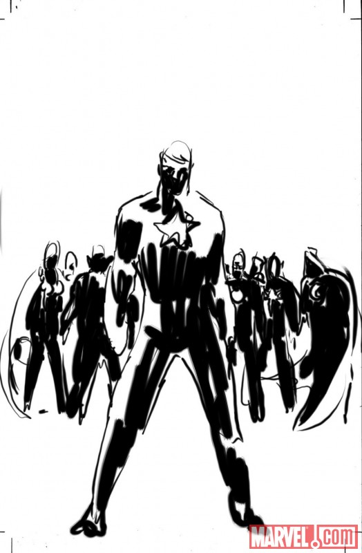 SECRET AVENGERS cover sketch number one by Mike Deodato