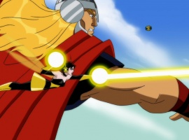 Thor and the Wasp in The Avengers: Earth's Mightiest Heroes!