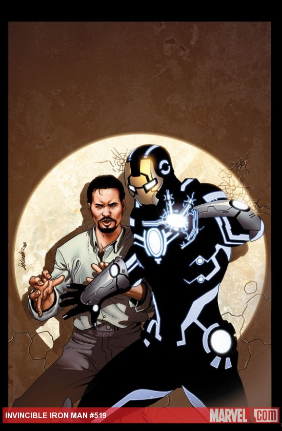 Invincible Iron Man #519 cover by Salvador Larroca