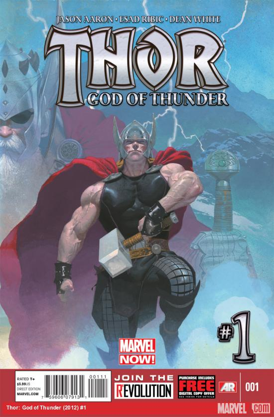 Thor: God of Thunder #1 cover by Esad Ribic