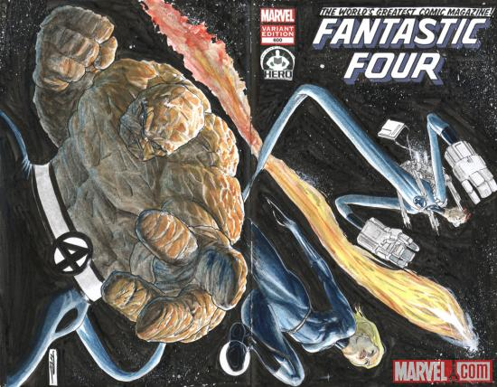 Fantastic Four #600 Hero Initiative variant cover by Tony Parker  