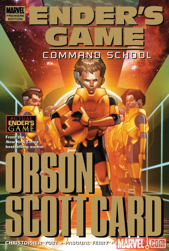 ENDER'S GAME: COMMAND SCHOOL hardcover collection cover by Pasqual Ferry
