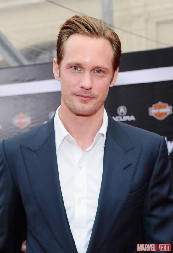 Alexander Skarsgard on the Avengers red carpet