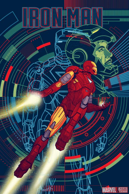 Marvel's The Avengers Iron Man poster by Kevin Tong for Mondo
