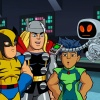 "Thor, Wolverine, Repitl and H.E.R.B.I.E. from ""The Super Hero Squad Show"""