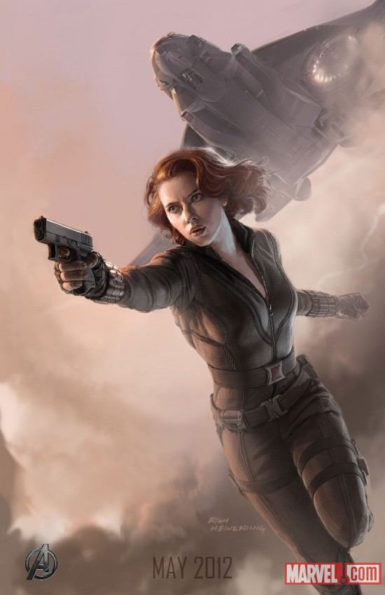 Black Widow SDCC 2011 exclusive concept art poster