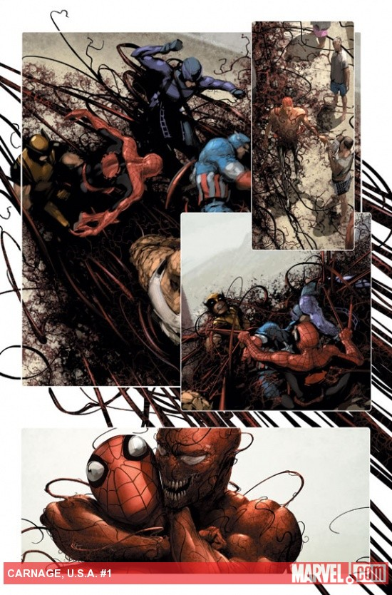 Carnage U.S.A. #1 preview art by Clayton Crain