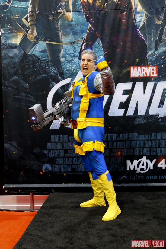 Cable cosplayer at Wondercon 2012