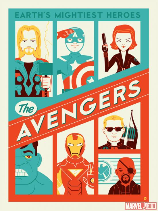 Marvel's The Avengers Art Featured in Los Angeles Gallery