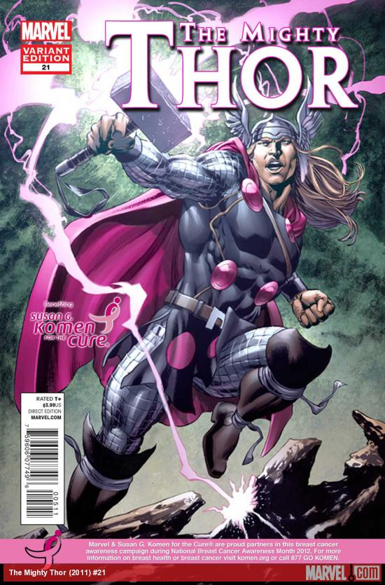 Mighty Thor #21 variant cover