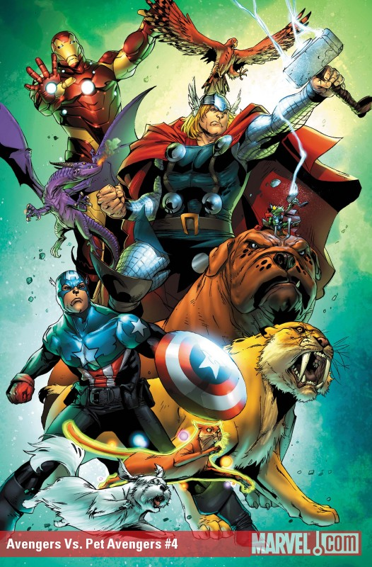 Avengers vs. Pet Avengers #4 cover by Ig Guara