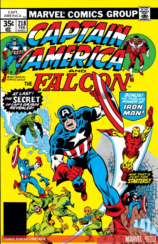 Captain America (1968) #218 Cover