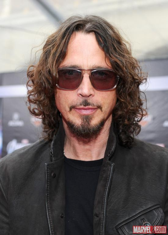 Soundgarden's Chris Cornell on the Avengers red carpet
