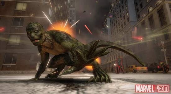 Screenshot of Lizard from the Lizard Rampage Pack in The Amazing Spider-Man video game