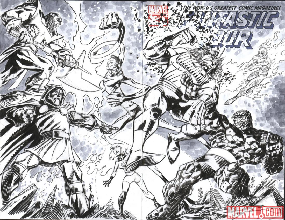 Fantastic Four #600 Hero Initiative variant cover by John McCrea