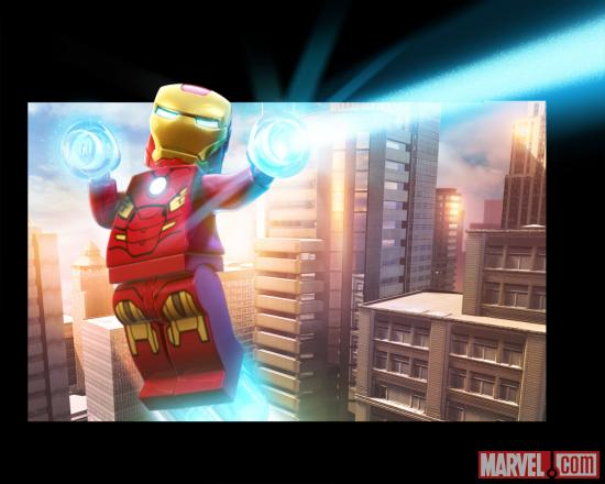Iron Man character render from LEGO Marvel Super Heroes