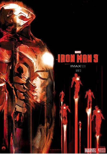 Marvel's Iron Man 3 poster by Jock available exclusively at the film's midnight debut in IMAX theaters