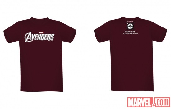Hawkeye NYCC 2011-exclusive Marvel's The Avengers tee-shirt