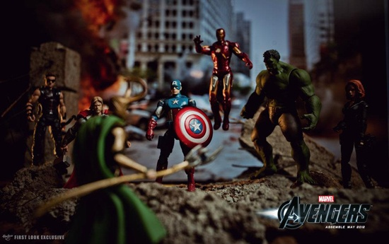 Marvel's The Avengers action figures from the Hasbro collection