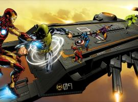 Marvel Universe S.H.I.E.L.D. Super Helicarrier specially commissioned box artwork by Joe Quesada