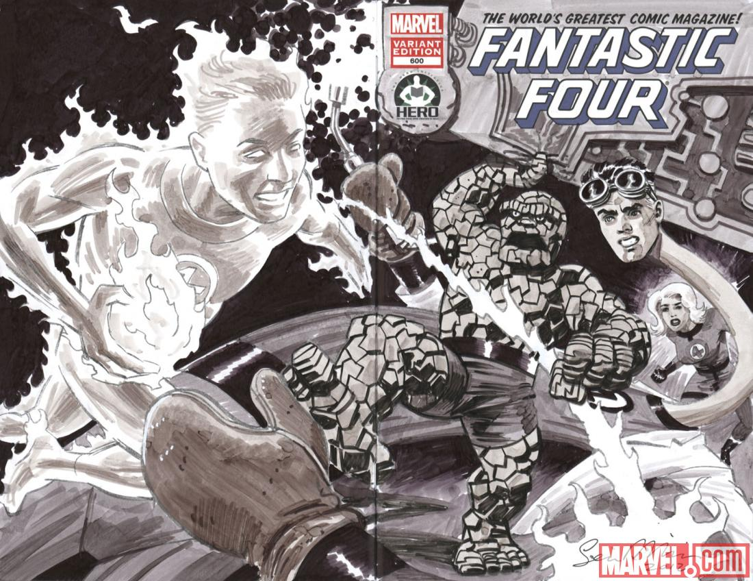 Fantastic Four #600 Hero Initiative variant cover by Sean Phillips