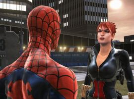 The Black Widow and Spider-Man, ready for action