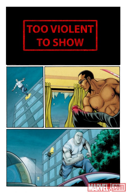 ULTIMATE COMICS AVENGERS 3 #1 censored preview art by Steve Dillon 3