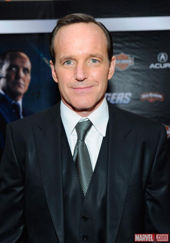 Clark Gregg on the Avengers red carpet