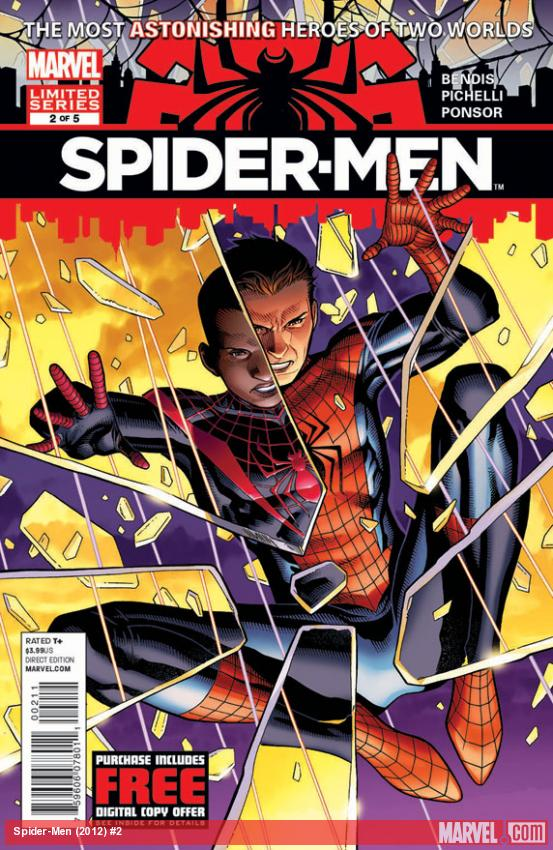 Spider-Men #2 cover by Jim Cheung