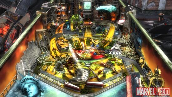 Screenshot of Marvel Pinball: World War Hulk on mobile devices